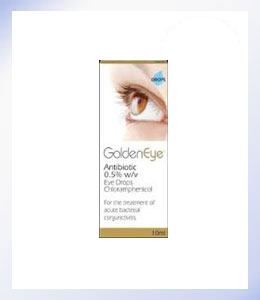 GoldenEye Antibiotic 0.5% Chloramphenicol Eye Drops